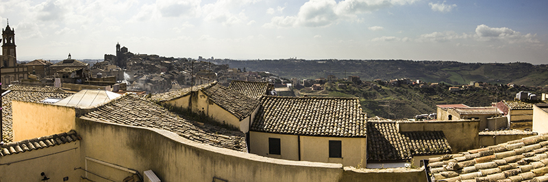 Panoramic view of Caltagirone